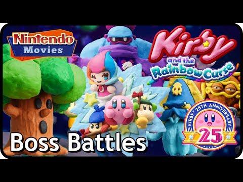 Kirby and the Rainbow Curse / Paintbrush - All Boss Battles (100% Multiplayer Walkthrough)