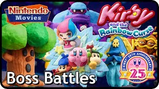 Kirby and the Rainbow Curse / Paintbrush - All Boss Battles (100% Multiplayer Walkthrough)