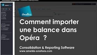 Comment importer une balance dans Opéra