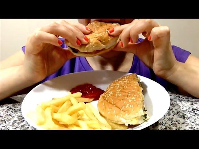 Asmr Burger And Fries Eating Show Mukbang Fast Forward Eating