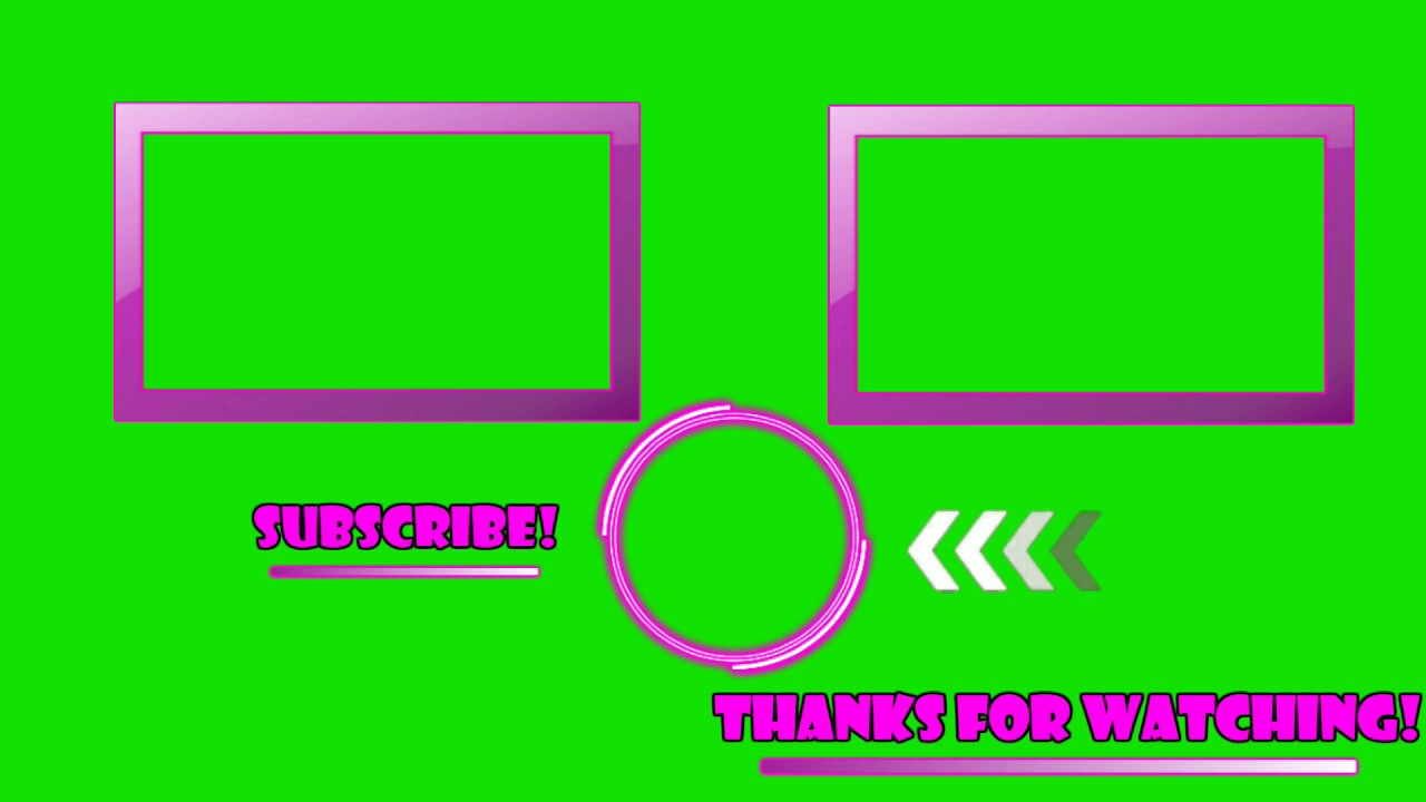 Free green screen outro youtube for Outro image