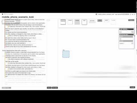 Scenario-based interactive UI design