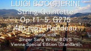BOCCHERINI String Quintette Op.11-5, G275, 4th mov. Rondeau