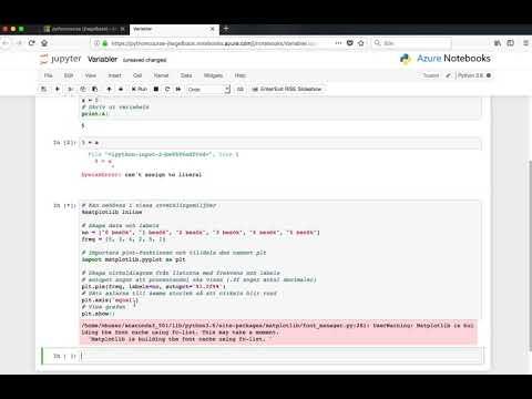 Introduktion till Azure Notebooks - YouTube