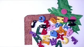 Chicka Chicka Boom Boom with Barbapapa Letters Stop Motion(Alphabet des Barbapapa)