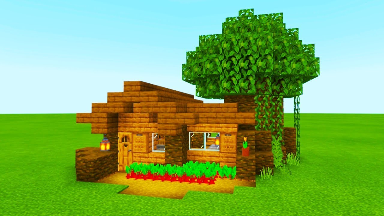 Minecraft Tutorial How To Make The Easiest Wooden Jungle House You Ve Ever Made Youtube