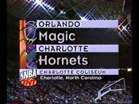 Charlotte hornets - Orlando magic, 5 mars 1996, VF George Eddy