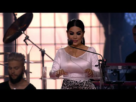 Aryana Sayeed reads the citation for ANIM's Polar Music Prize.  - Polar music prize (TV4)