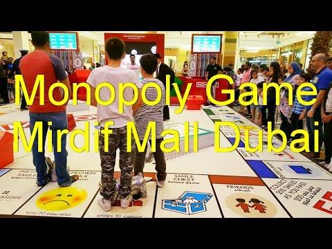 Giant Monopoly game at Mirdif Mall Dubai