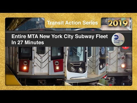 New York City Subway Entire Fleet In 27 Minutes - TrAcSe 2019