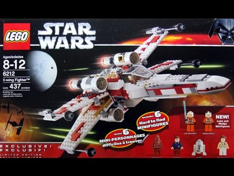 Lego Instructions For Star Wars X Wing Fighter Set 6212 2006 Youtube