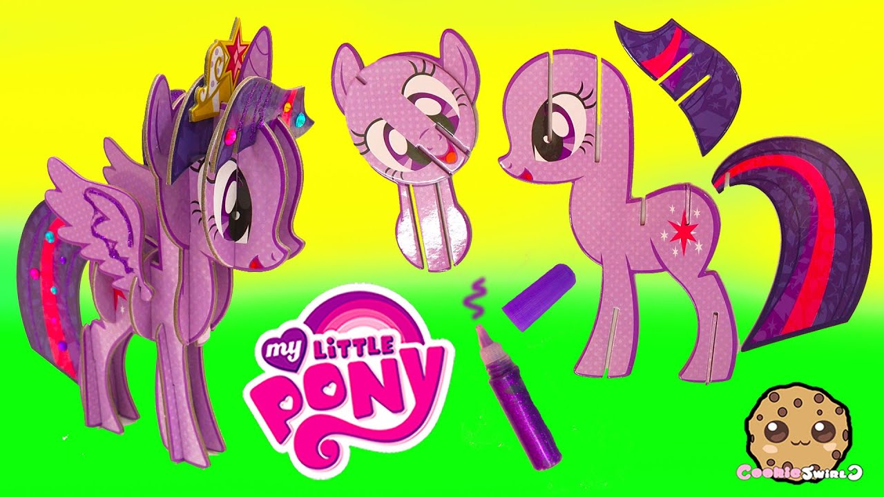create build a 3d my little pony princess twilight sparkle mlp craft