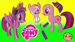 Create Build A 3D My Little Pony Princess Twilight Sparkle MLP Craft Kit - Cookieswirlc Video
