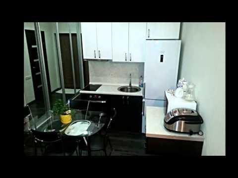 Интерьер квартиры студии с балконом, он утеплен. Тёплые полы. 25 кв. м 28 кв. м. с балконом.