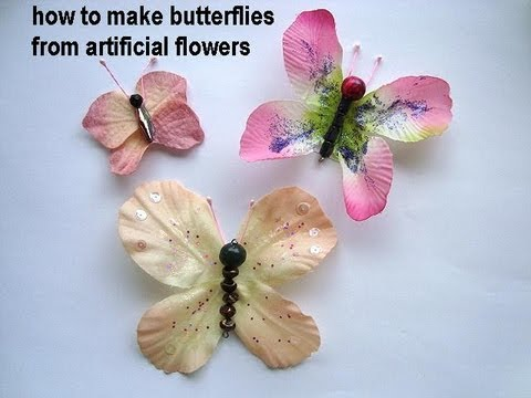 Diy Butterflies Make Butterflies From Artificial Flowers