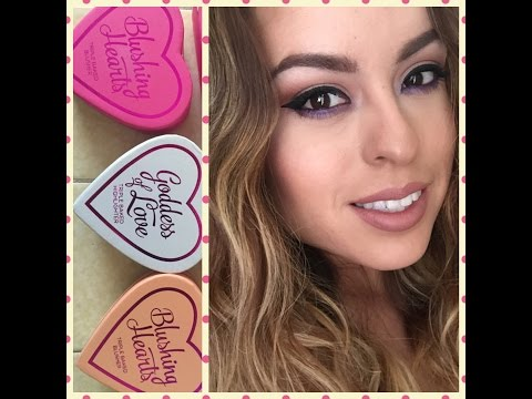 Makeup Revolution: I Love Makeup Triple Baked Highlighters (Blushing Hearts) Review and Swatches