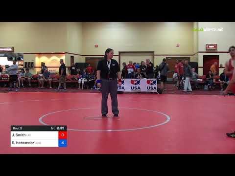 2018 Marine Corps US Open/Masters A Greco Roman 88 Quarters - Jan Smith (Las ) Vs. Daniel Hernande