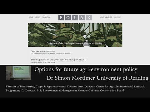 Options for future agri-environment policy: Simon Mortimer
