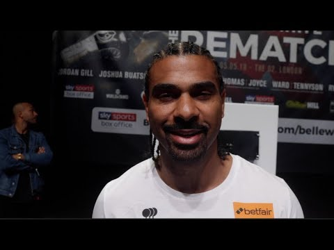 'FIRST TIME I SAW FEAR IN TONY BELLEW EYES! - DAVID HAYE IMMEDIATE WEIGH IN REACTION / HAYE v BELLEW