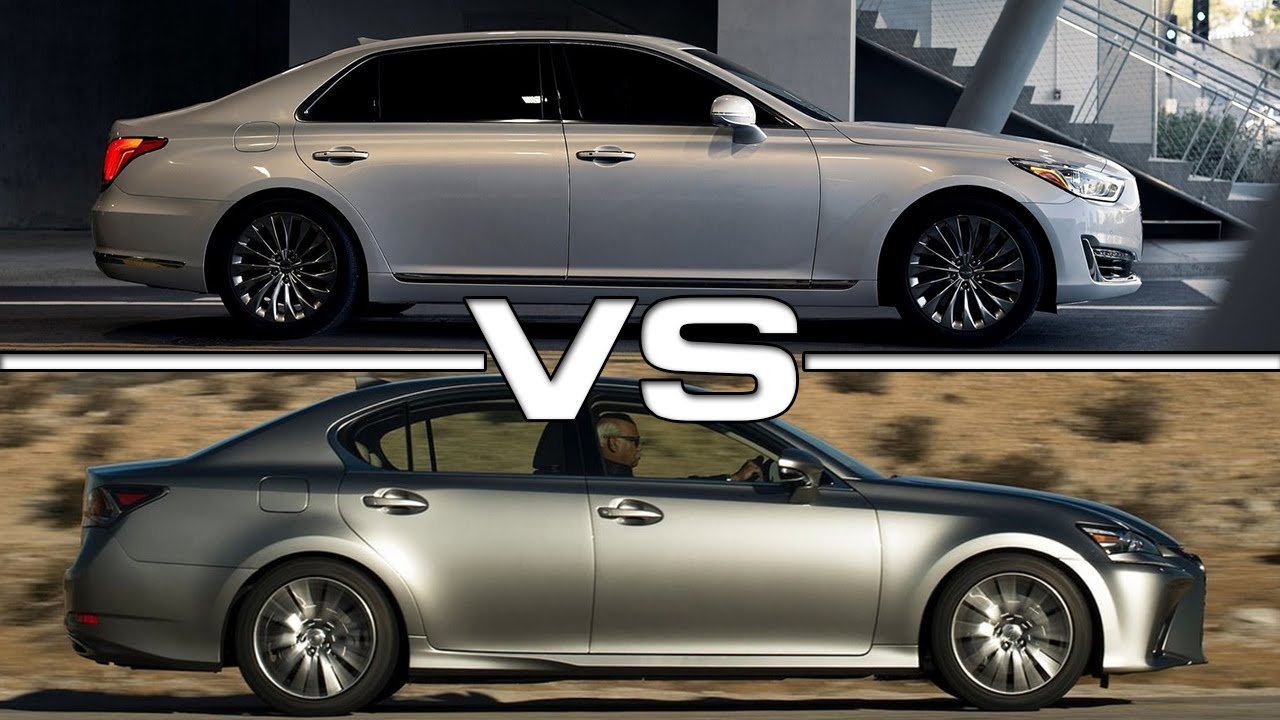 hyundai genesis g90 vs lexus gs youtube. Black Bedroom Furniture Sets. Home Design Ideas