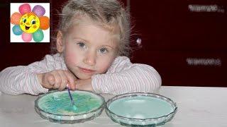 ОПЫТ Что будет с молоком и кефиром если добавить красители Эксперимент Видео для детей