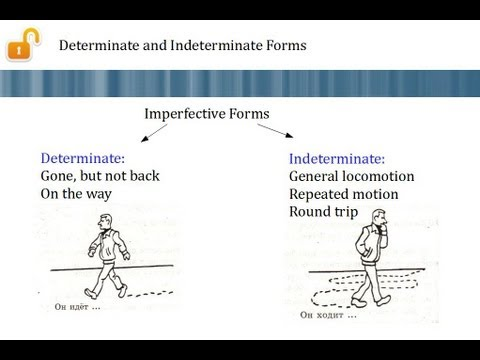 Russian Verbs of Motion, Part 2 - Determinate and Indeterminate Forms  (глаголы движения)
