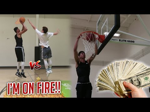 BIG MONEY WAGER! HUGE 1v1 BASKETBALL [GAME 2] vs. JesserTheLazer