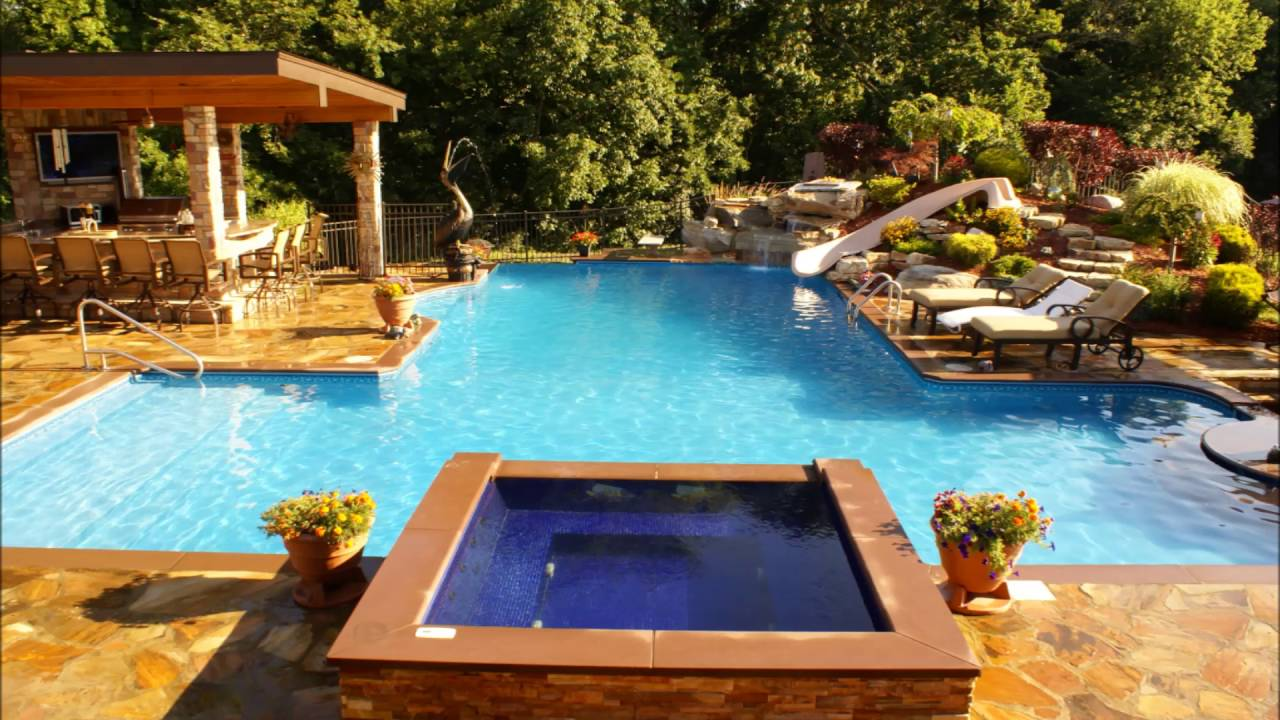 Jacuzzi Pool Youtube Swimming Pools Design Exotic Pool And Jacuzzi Designs Youtube