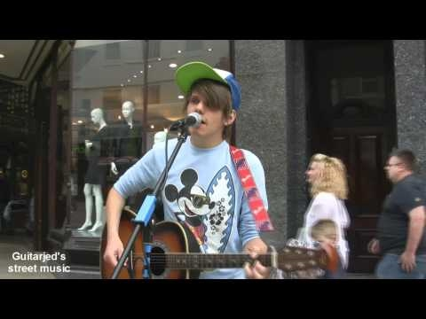 Lee - Sally Cinnamon (Stone roses cover) Briggate Leeds city centre HD