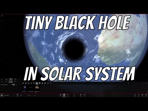 What If the Smallest Black Hole Entered the Solar System?
