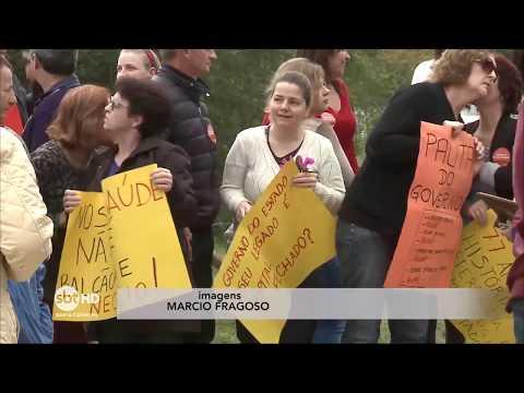 Funcionários e pacientes do Hospital Santa Tereza fazem manifestação contra possível fechamento