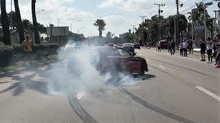 INSANE 1500HP SUPRA BURNOUT!! | Awesome Supercars at Exotics and Espresso January 2020 [Part 1]