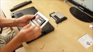 How-to Lenovo Y500  adding 2nd HDD / SSD using DVD / optical drive bay