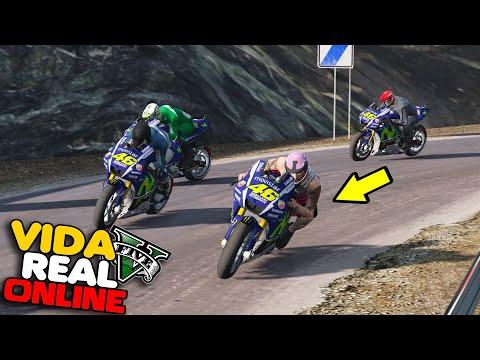GTA V : VIDA REAL - FUI TESTAR A MOTO DO VALENTINO ROSSI  ! #313