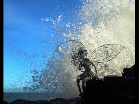 Garden Sculpture making a wire fairy by Emma Jane Rushworth