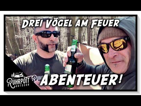Drei Vögel am Feuer, Abenteuer! - Ruhrpott Outdoor