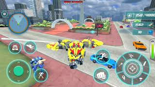 Grand Police Truck Robot War Transform - Robot Games - Android Gameplay screenshot 4