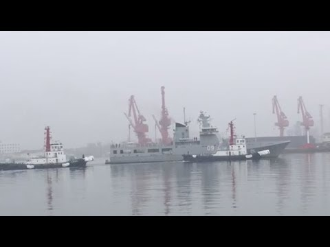 More foreign warships arrive at Qingdao for PLA Navy celebra