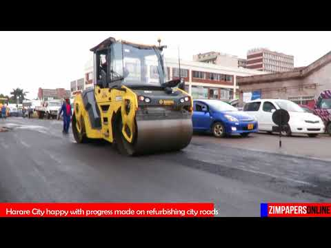 Harare City happy with progress made on refurbishing city roads