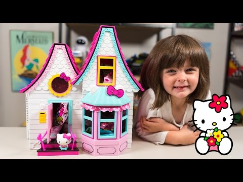 HUGE Hello Kitty Surprise House Kitty White Blind Bags Doll House Toys for Girls Kinder Playtime