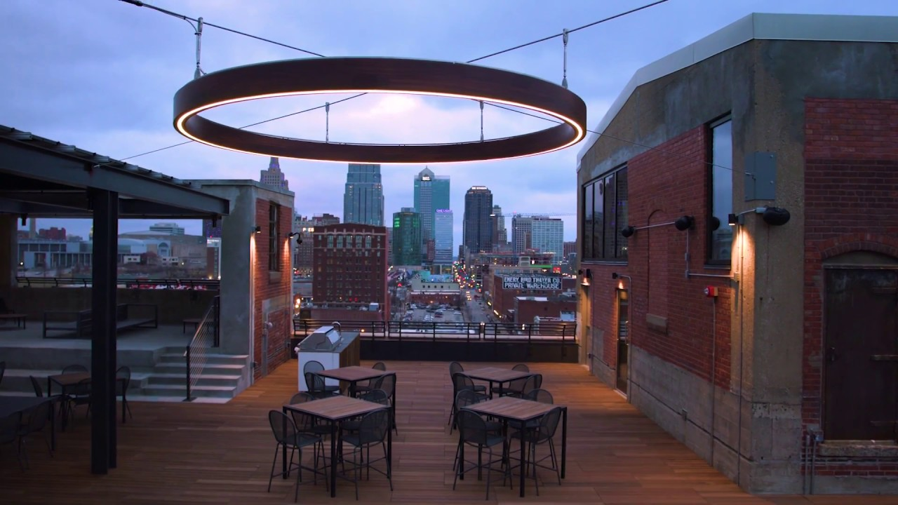 Aura Outdoor Suspended Led Wood Ring