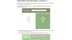 Whatsapp Nachrichten mitlesen Programm kostenlos