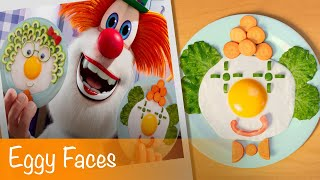 Booba - Food Puzzle: Eggy Faces - Episode 4 - Cartoon for kids