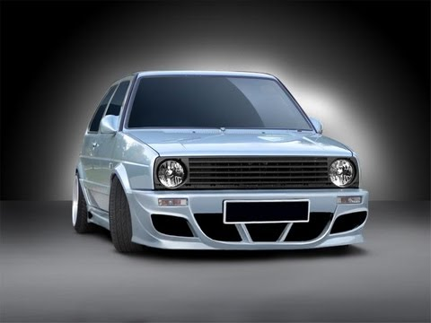vw golf 2 tuning body kit youtube. Black Bedroom Furniture Sets. Home Design Ideas