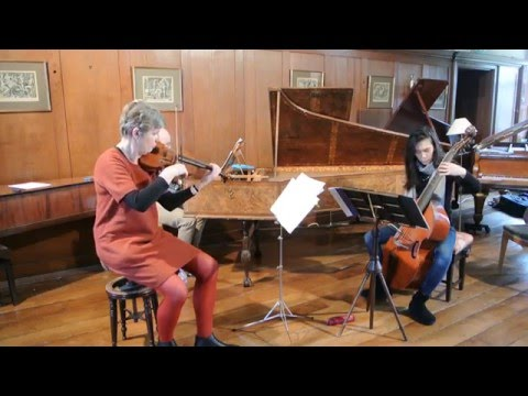 Élisabeth Jacquet de La Guerre, Sonata in D minor for violin, viola da gamba and basso continuo
