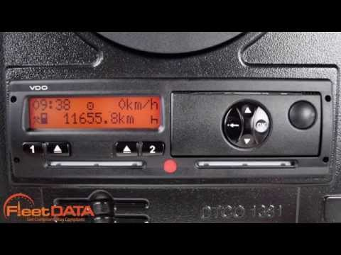 How to change time on a Digital Tachograph - Siemens VDO