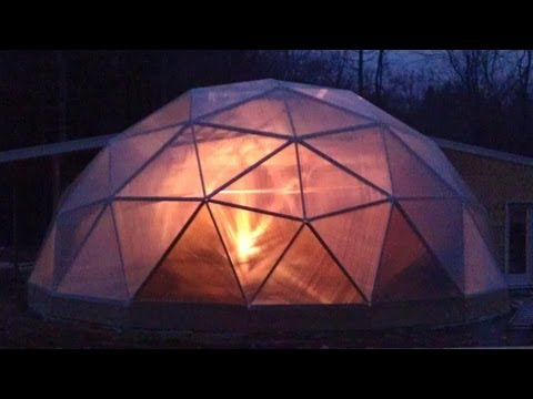 Geodesic Dome Greenhouse - Part 9 - Polycarbonate!