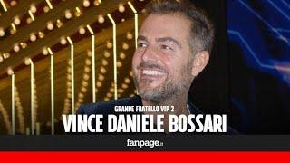 Grande Fratello Vip, vince Daniele Bossari: ecco cosa ha dichiarato