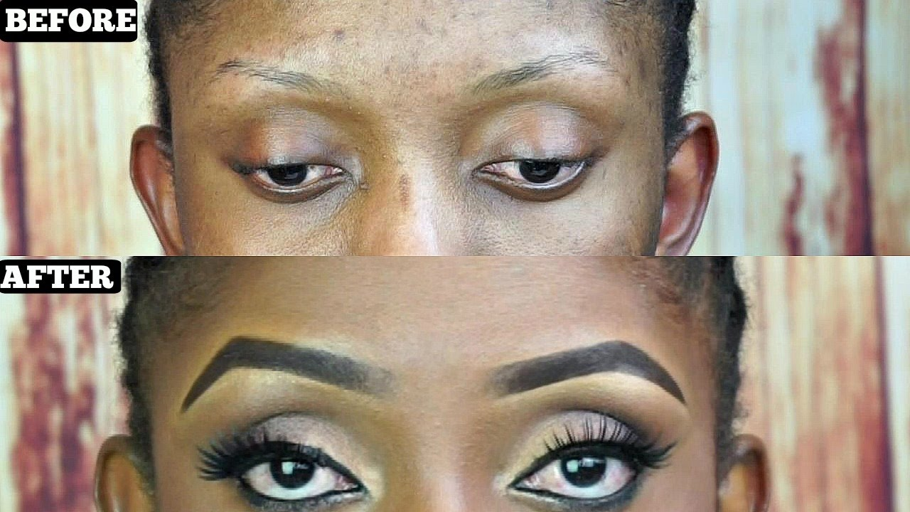 Easiest Eyebrow Tutorial For Beginners With Very Thin Eyebrows Youtube