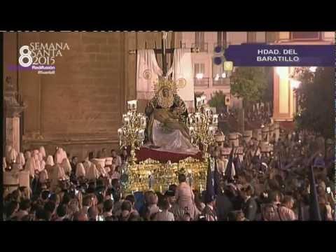 Semana Santa de Sevilla 2015. La Piedad del Baratillo Salida Catedral